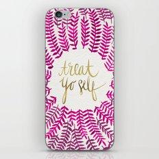 Treat Yo Self – Pink & Gold iPhone & iPod Skin