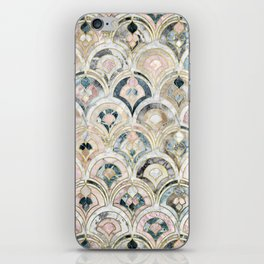Art Deco Marble Tiles in Soft Pastels iPhone Skin