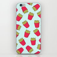fries iPhone & iPod Skins featuring Fries by weheartstore