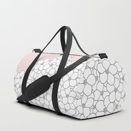 Forget Me Knot Pink Boarder Duffle Bag