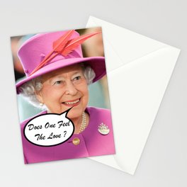 The British Queen Elizabeth II Does One Feel The Love Stationery Cards