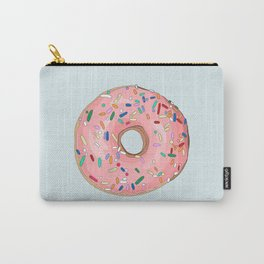 Strawberry Frost Donut Carry-All Pouch