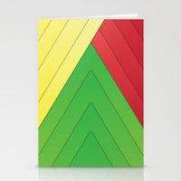 rasta Stationery Cards featuring Rasta Triangles by Arlo @ Creative Konzepts