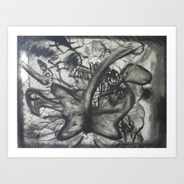 chaos in nature Art Print