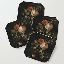 Botanical Rose And Snail Coaster