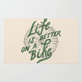 Life Is Better On A Bike Rug