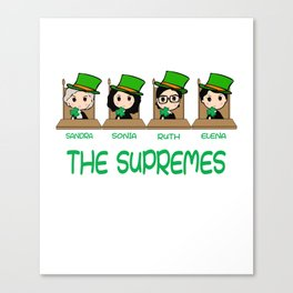 THE SUPREMES Supreme Court Justices RBG cute Canvas Print