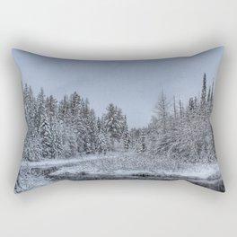 Winter in the Adirondacks Rectangular Pillow