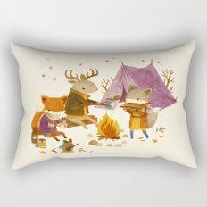 Critters: Fall Camping Rectangular Pillow