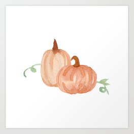 Fall Pumpkins Art Print