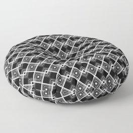 Triangles Diamonds Black & White Geometric Print Floor Pillow