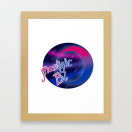 Bi Moonlight Pride Framed Art Print