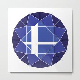 Blue Logo (Updated) Metal Print