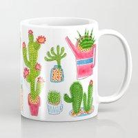 cactus Mugs featuring Cactus by Hui_Yuan-Chang
