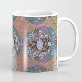 Rococo Traditional Sacred Geometry Celtic Inspired Geometric Quilt Coffee Mug