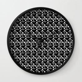 Lattice Pattern (White) Wall Clock