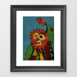Monkey in Sunday Best Framed Art Print