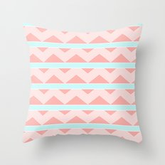 Pastel pattern Throw Pillow