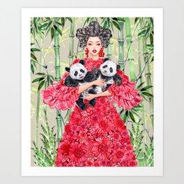 Panda Lucky Art Print