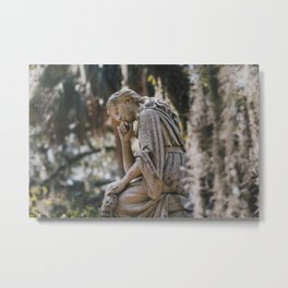 Bonaventure Cemetery - Statue of Eliza Wilhelmina Theus II Metal Print