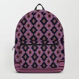Pink Modern Tribal Diamond and Stripe Tile Backpack
