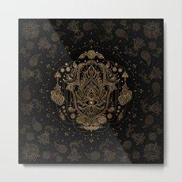 Hamsa Hand -Hand of Fatima Ornament Metal Print