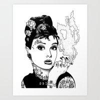 tiffany Art Prints featuring Tiffany by AdamWillis