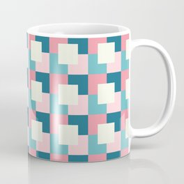 Abstract 3D Square Pattern Coffee Mug