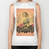 music notes Biker Tanks featuring Key notes  by nicky2342