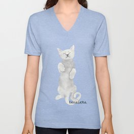 Savasana Yoga Cat Unisex V-Neck