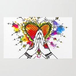 Heart Opening Namaste Rug