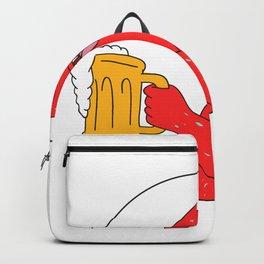 Coral Trout Beer Mug Circle Drawing Backpack