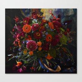 Red & Orange Bouquet Canvas Print
