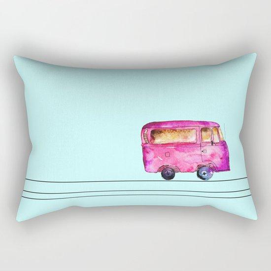 Little bus Rectangular Pillow