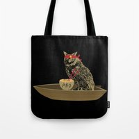 vietnam Tote Bags featuring Vietnam Owl by October's Very Own