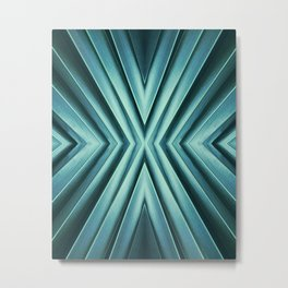Emerald, abstract. Metal Print