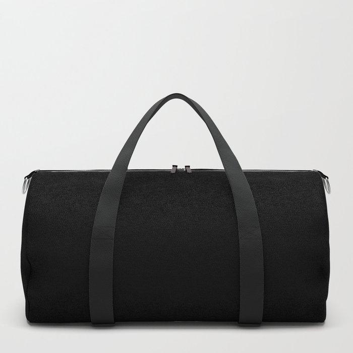 Plain Solid Black Duffle Bag