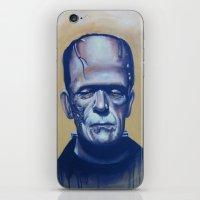 frankenstein iPhone & iPod Skins featuring frankenstein by FlacoGarcia