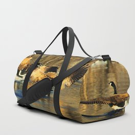 Canadian Geese: Three's a Crowd Duffle Bag