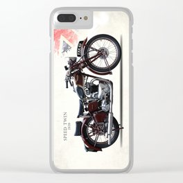 The 1939 Speed Twin Clear iPhone Case