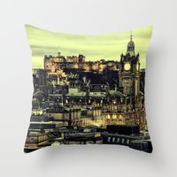 edinburgh Throw Pillows featuring Edinburgh by EclipseLio