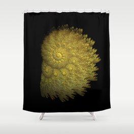 3D Fractal Seashell Shower Curtain