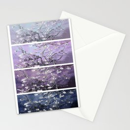 Vincent Van Gogh : Almond Blossoms Panel Art Dark Blue Purple Lavender Stationery Cards