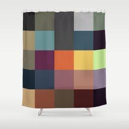 Pixel Patchwork Kappa Shower Curtain