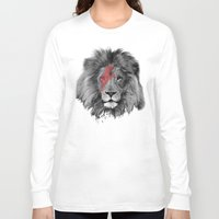 david bowie Long Sleeve T-shirts featuring David Bowie Lion by Urban Exclaim Co.