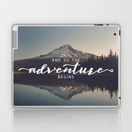 Trillium Adventure Begins - Nature Photography Laptop & iPad Skin