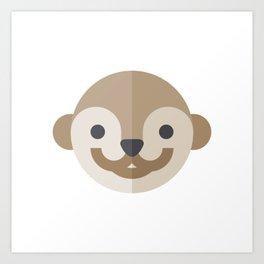 otter emoji Art Print