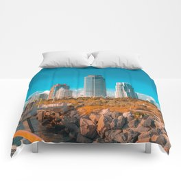 South Pointe Pier Comforters