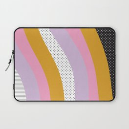 Abstract Print - Mixed Colors and Patterns Wavy Lines Laptop Sleeve