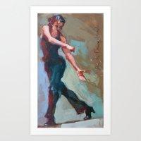 NAVY BLUE DANCER  Art Print